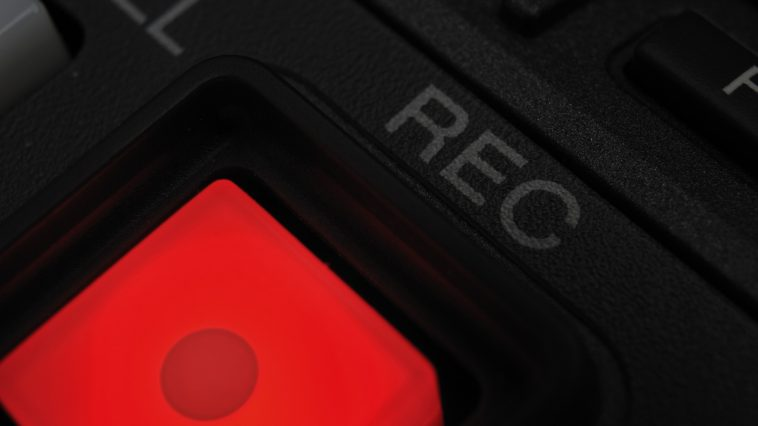 broadcastnews macro shot of the record button 041