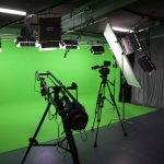 Broadcastnews green screen studio